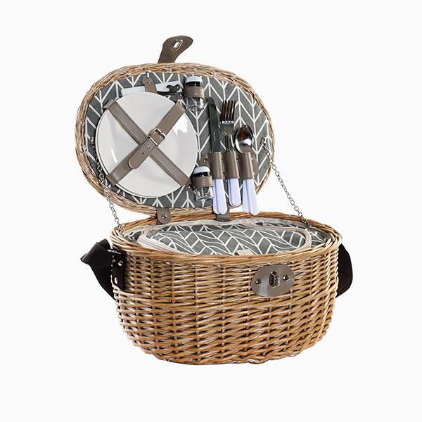 cesta de mimbre picnic